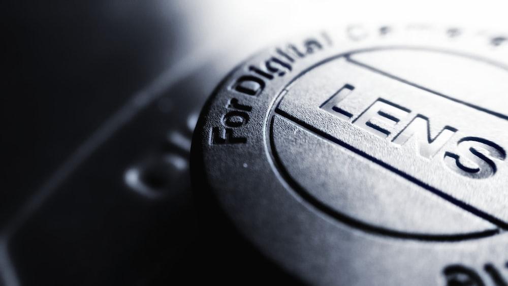 black camera lens cover
