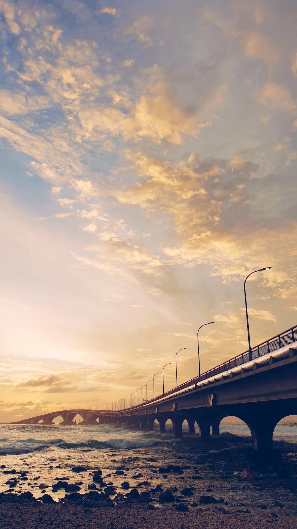 golden hour photography of bridge
