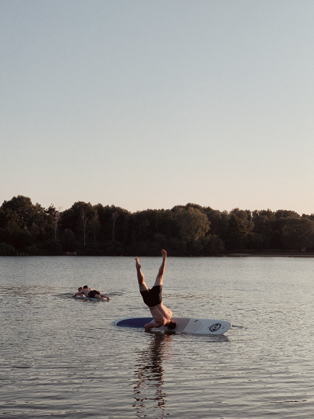 On our team retreat Niels tried doing yoga on a paddleboard. Let's say it did not end very well.