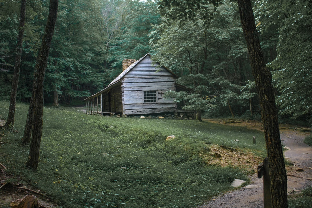 Old cabin located at Cades Cove in the Great Smoky Mountains.