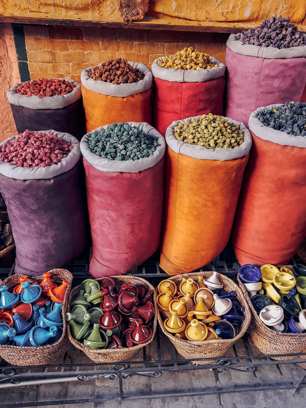 assorted-color nuts