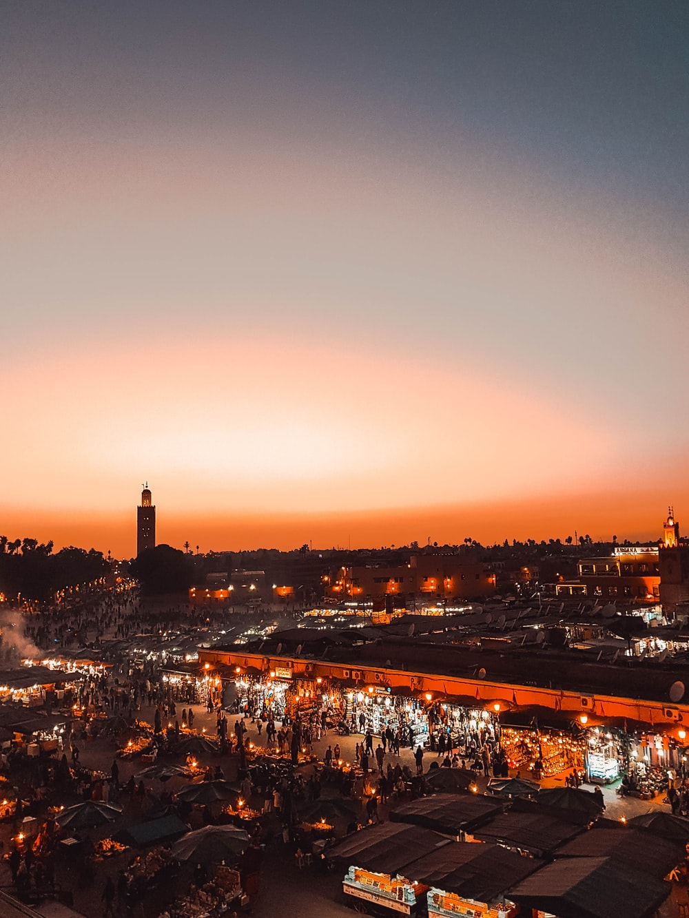 city during night (travel Morocco)