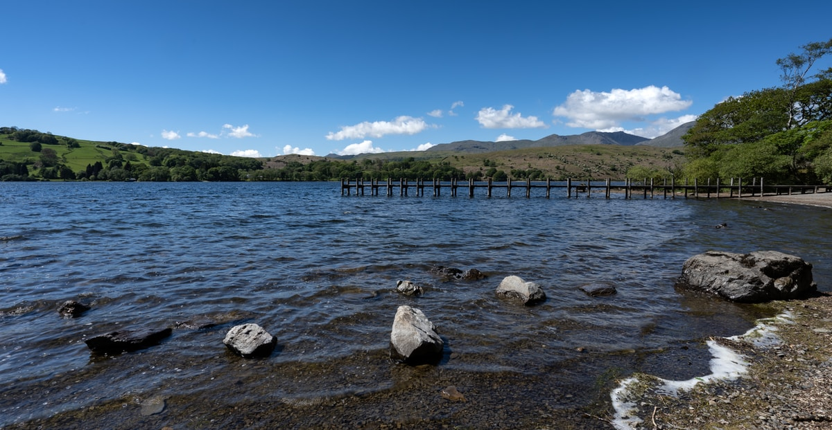 Swimming in Coniston Water, Lake District