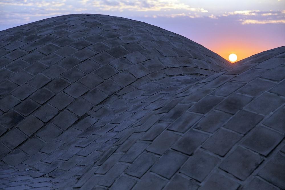 gray concrete dome roof