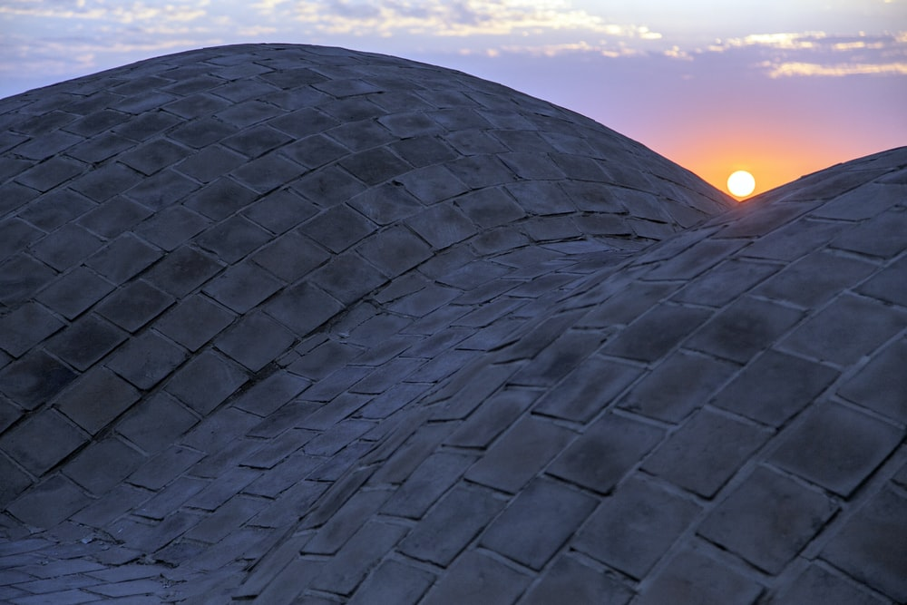 gray concrete dome roof