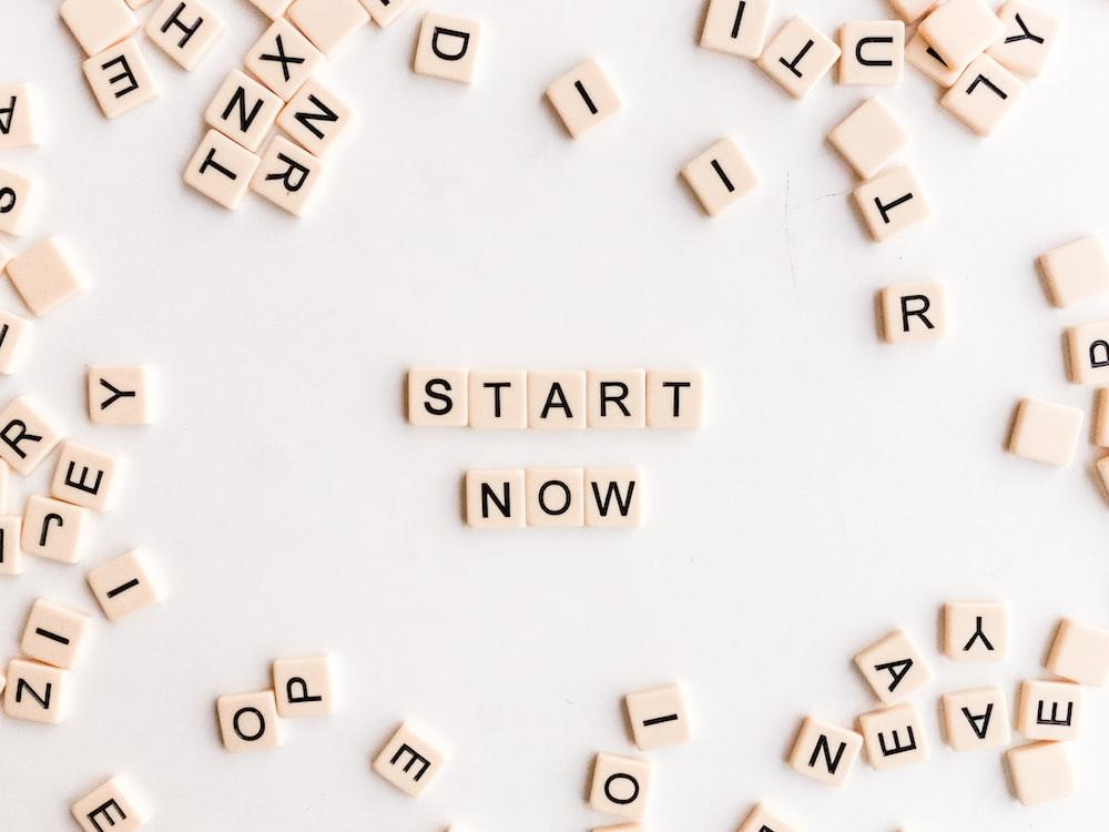 start now sign