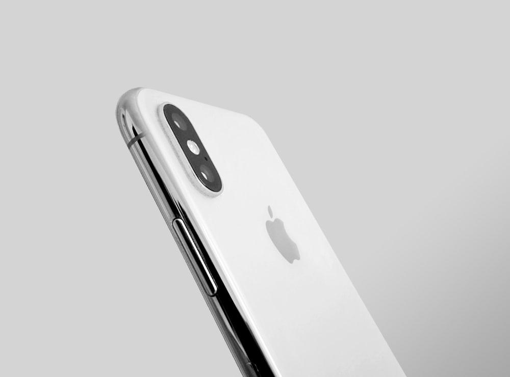 silver iPhone X