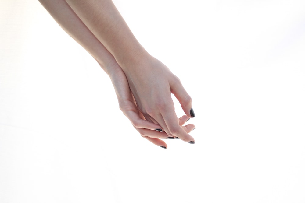right and left human hands
