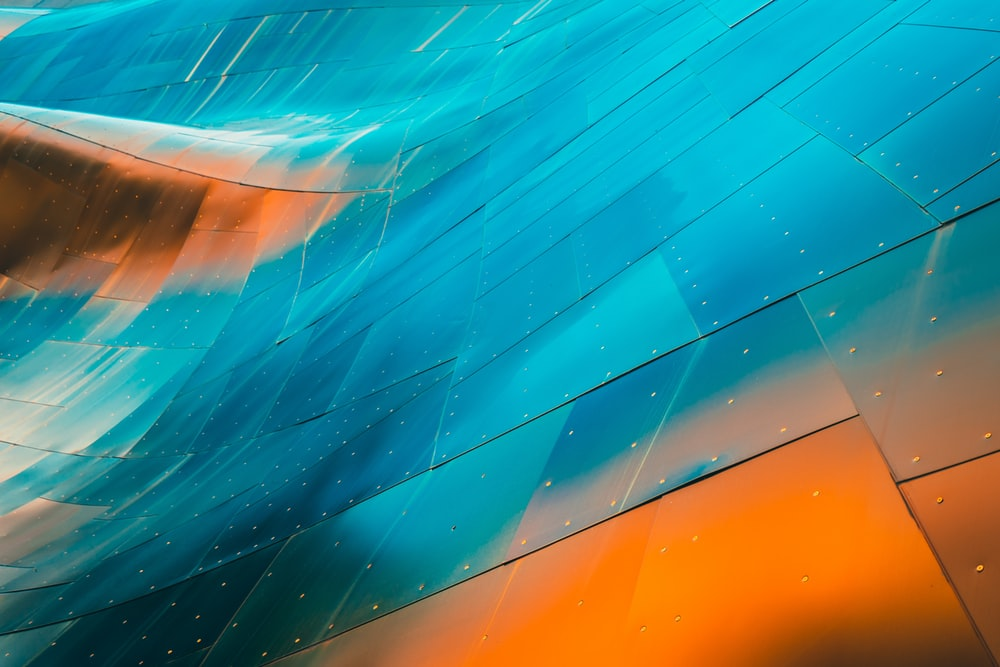 blue and brown surface