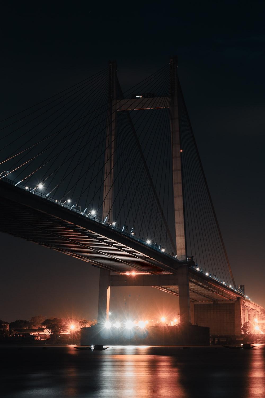low-angle photo of Brooklyn bridge