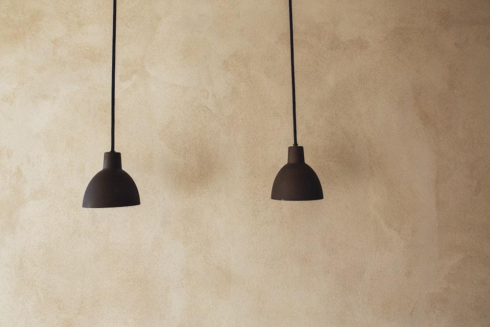 two black pendant lights