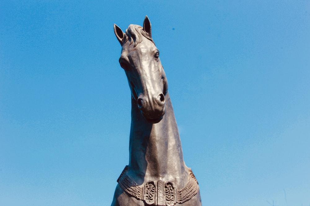 gray horse statue