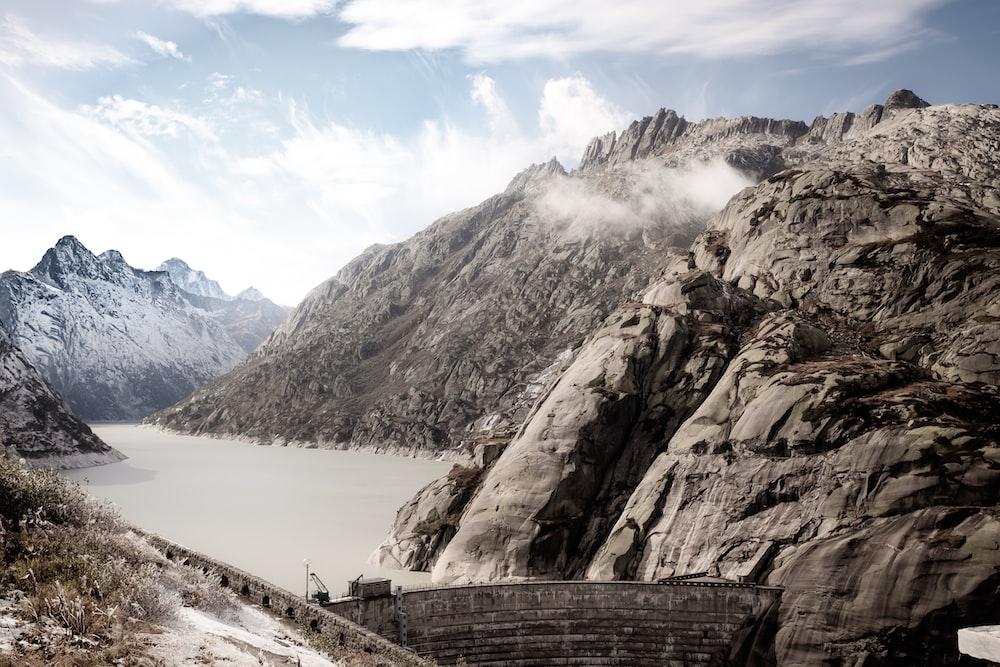 brown water dam photo
