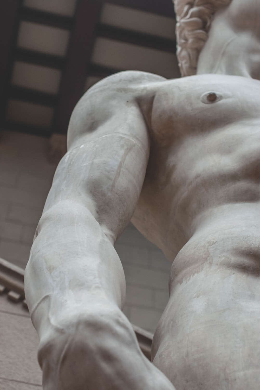 topless man statue
