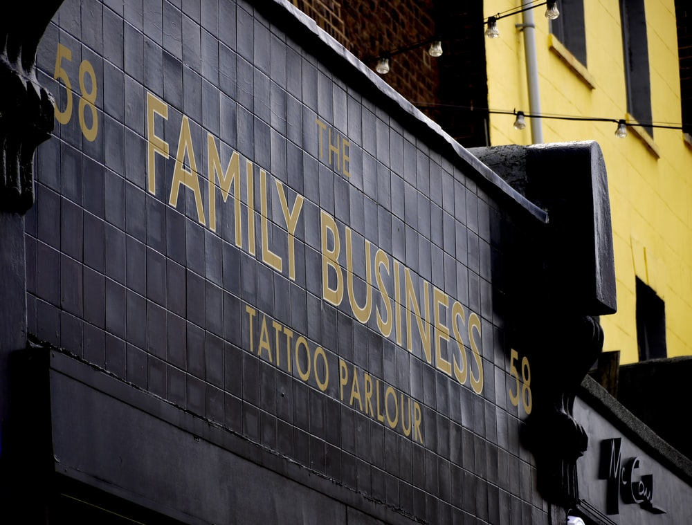 Family Business signage