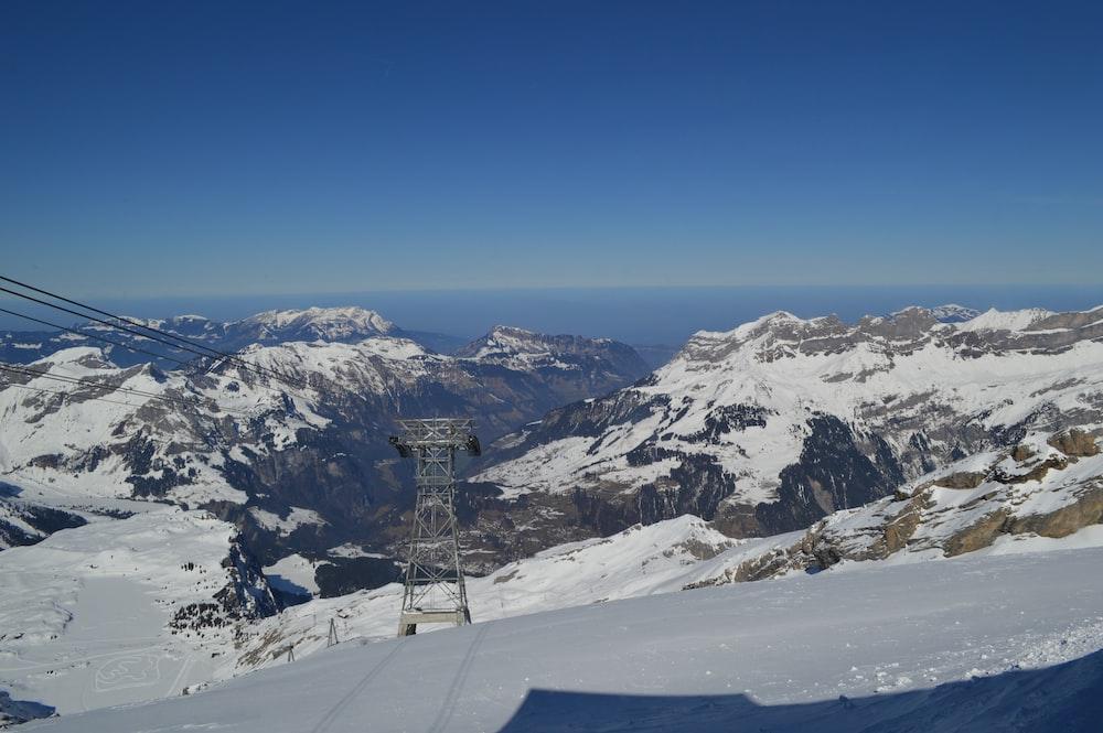 landscape of a snow slope