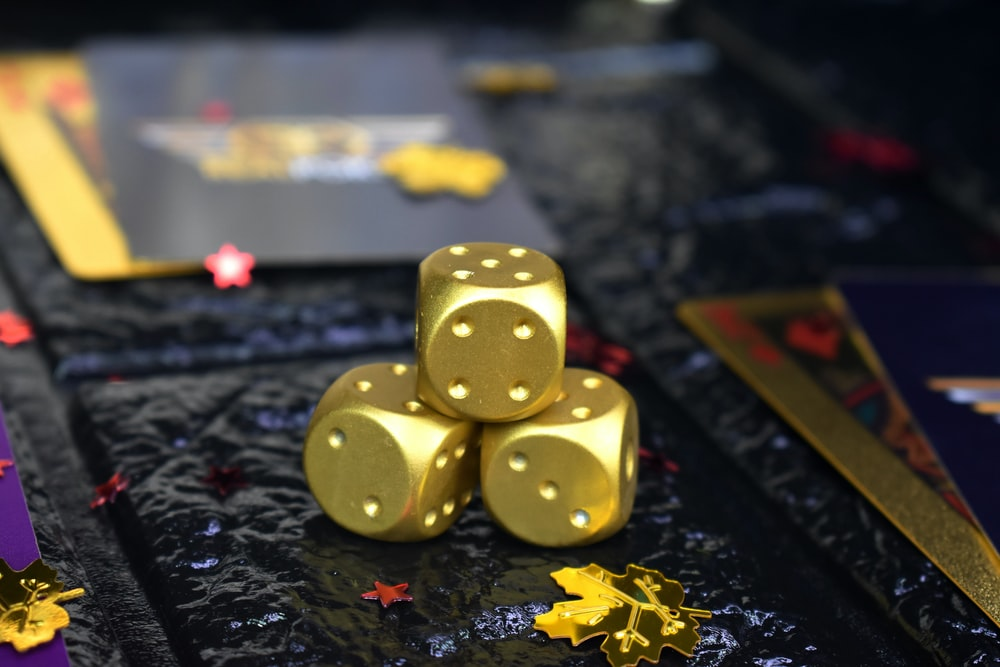 selective focus photography of three dices