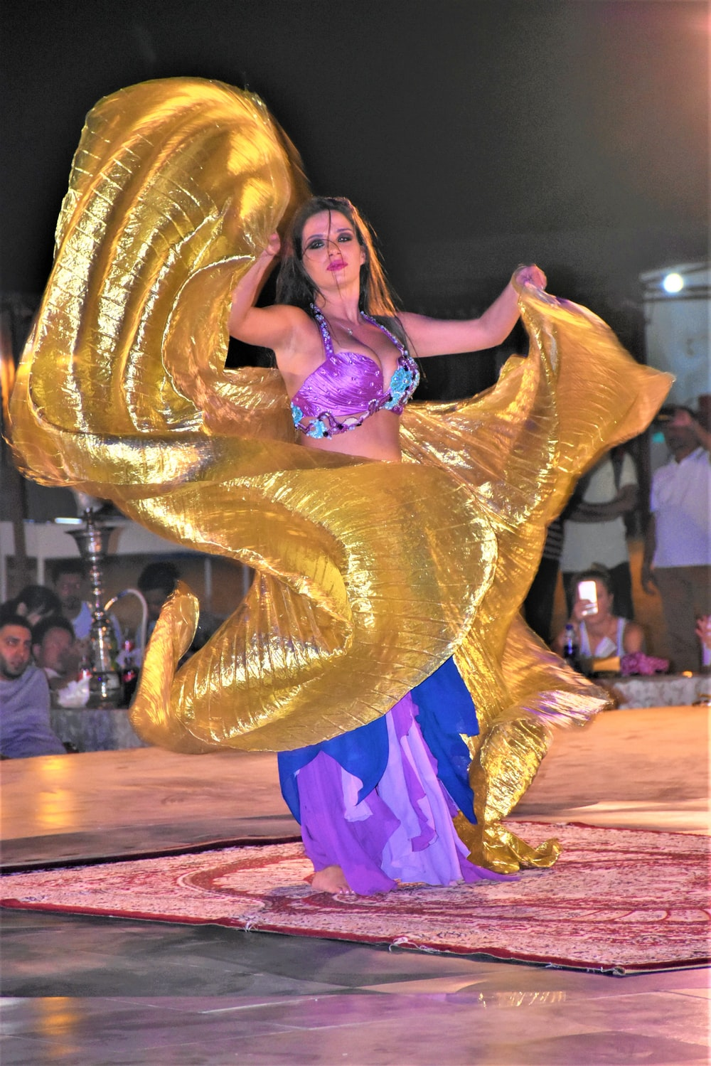 female belly dancer performing