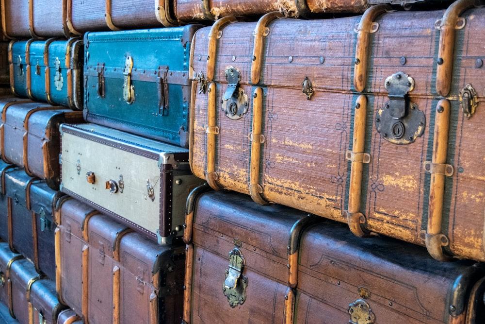 stacks of luggage