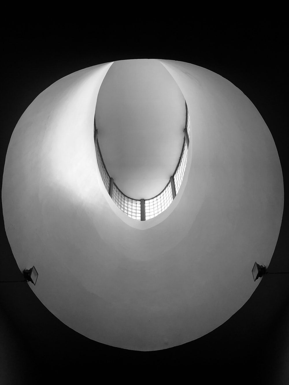 round photo of building