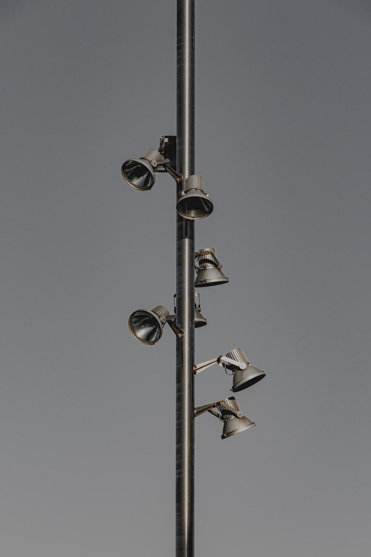 gray metal post