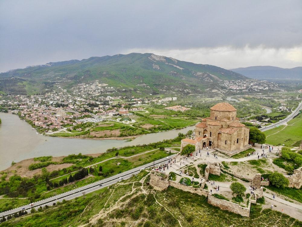 Mtskheta, Georgia - aerial photo of building