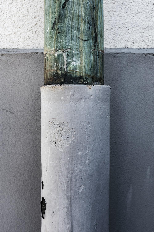 gray concrete stand