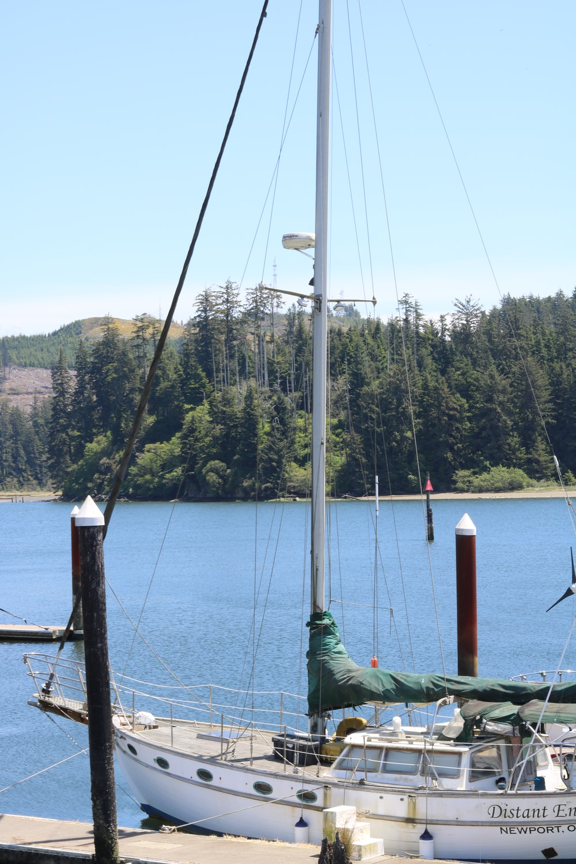white sailing boat