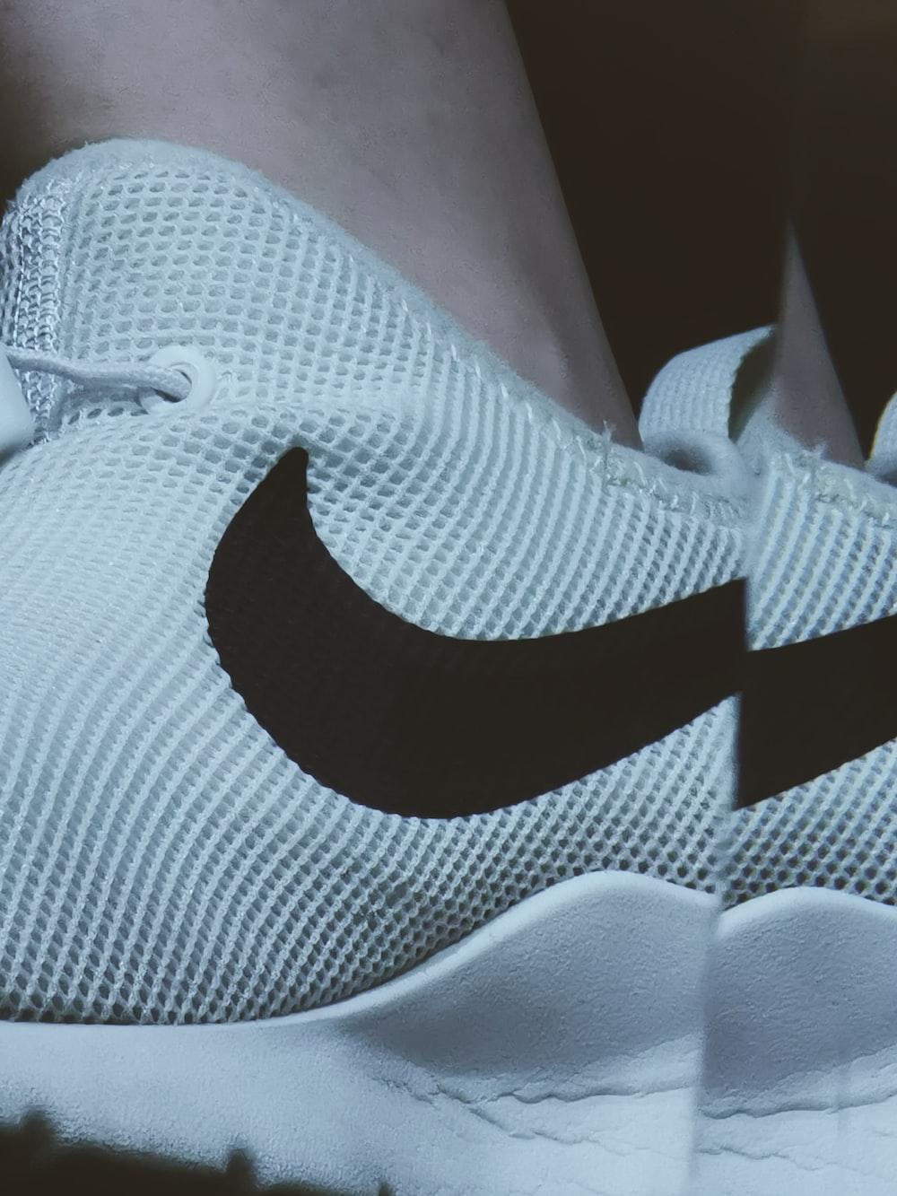 person wearing Nike low-top sneaker