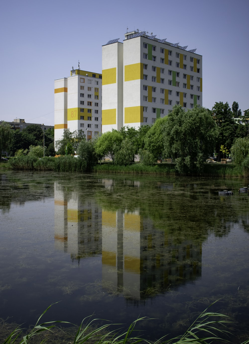 white and yellow concrete building near green-leafed tree