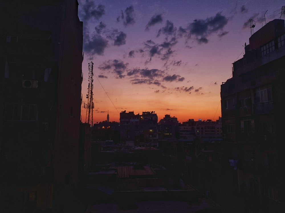 big building during golden hour