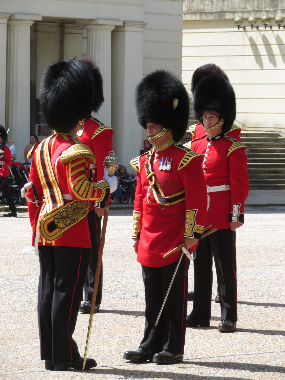 Royal guards holding sword