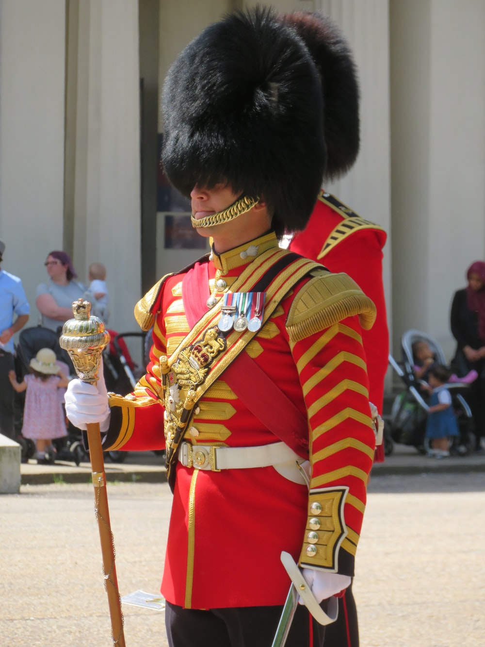 shallow focus photo of Royal guard