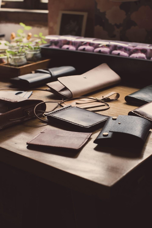 assorted-color wallet lot