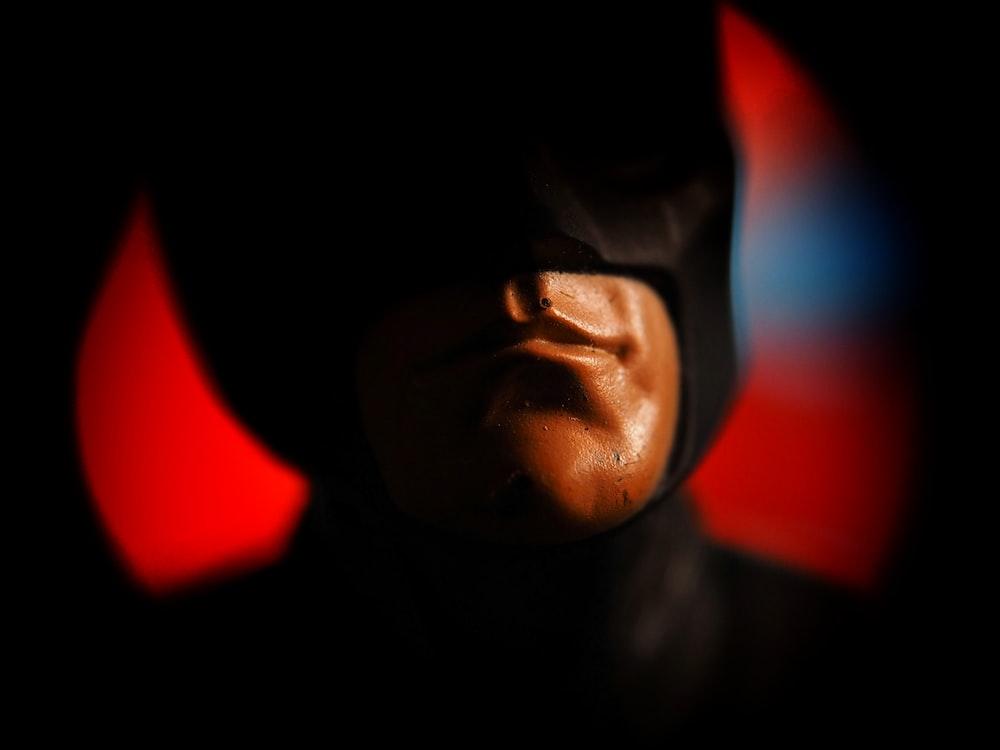 man wearing mask close-up photography