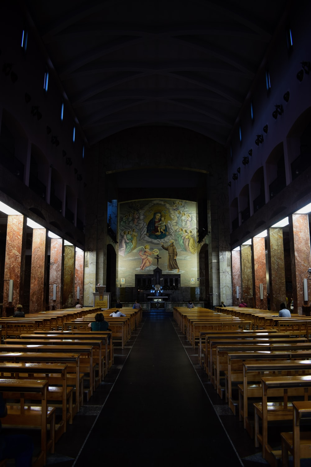 brown and gray cathedral interior