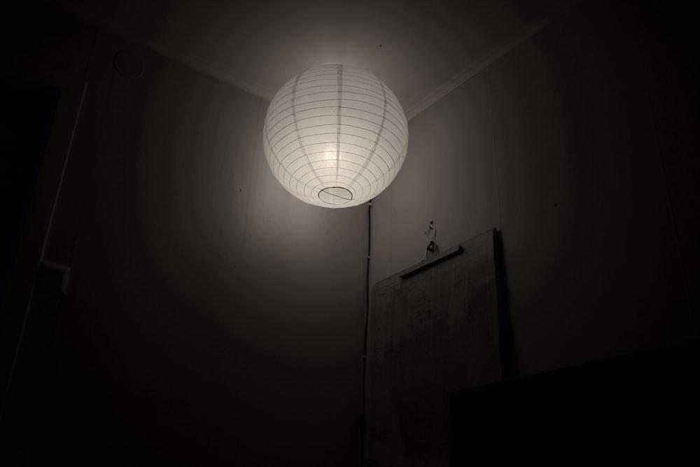 lighted ball pendant lamp