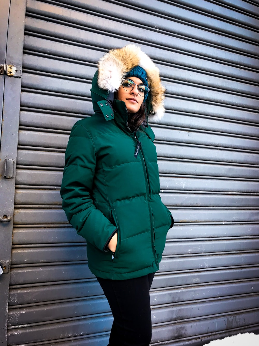 green bubble jacket
