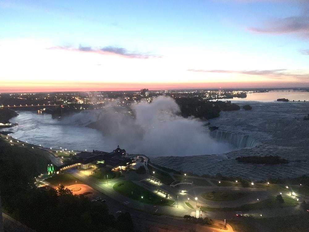 aerial photography of Niagara Falls