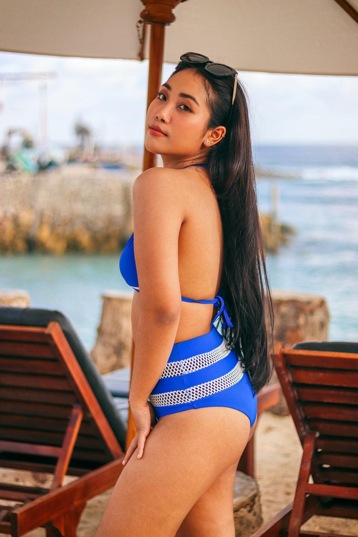 selective focus photography of woman in bikini