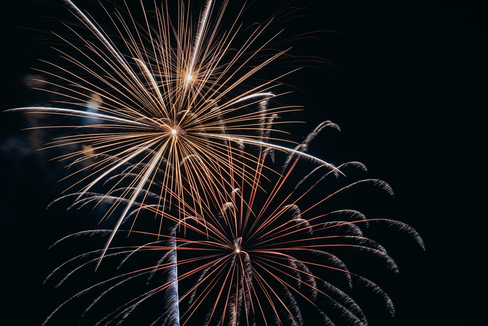 low-angle photo of fireworks