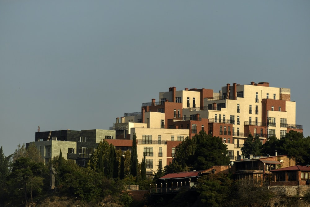 buildings on top of the hill