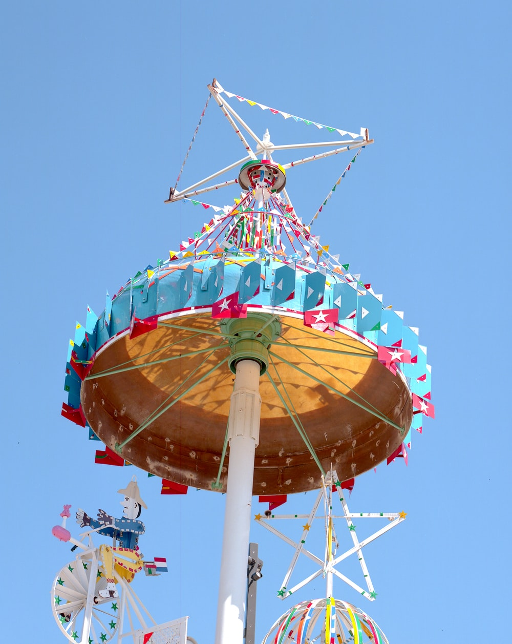 low angle photography of amusement park ride