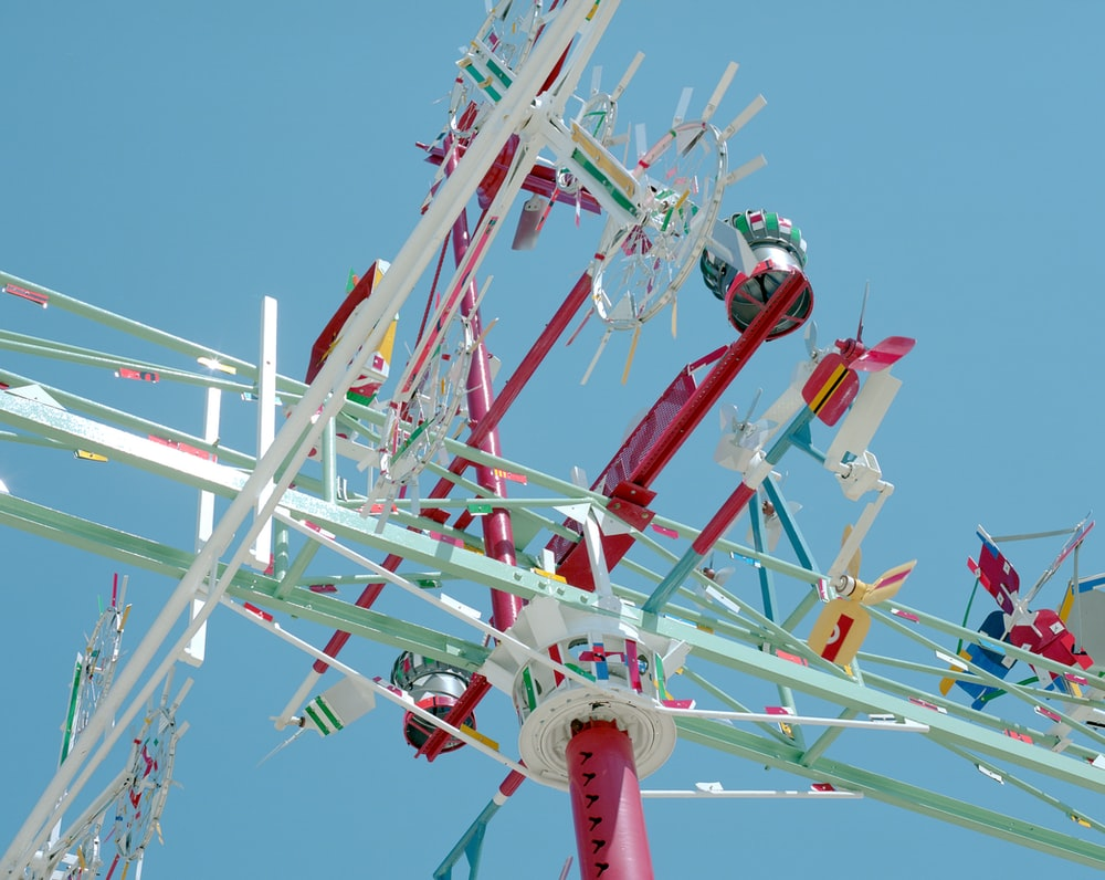 low-angle photography of amusement park ride