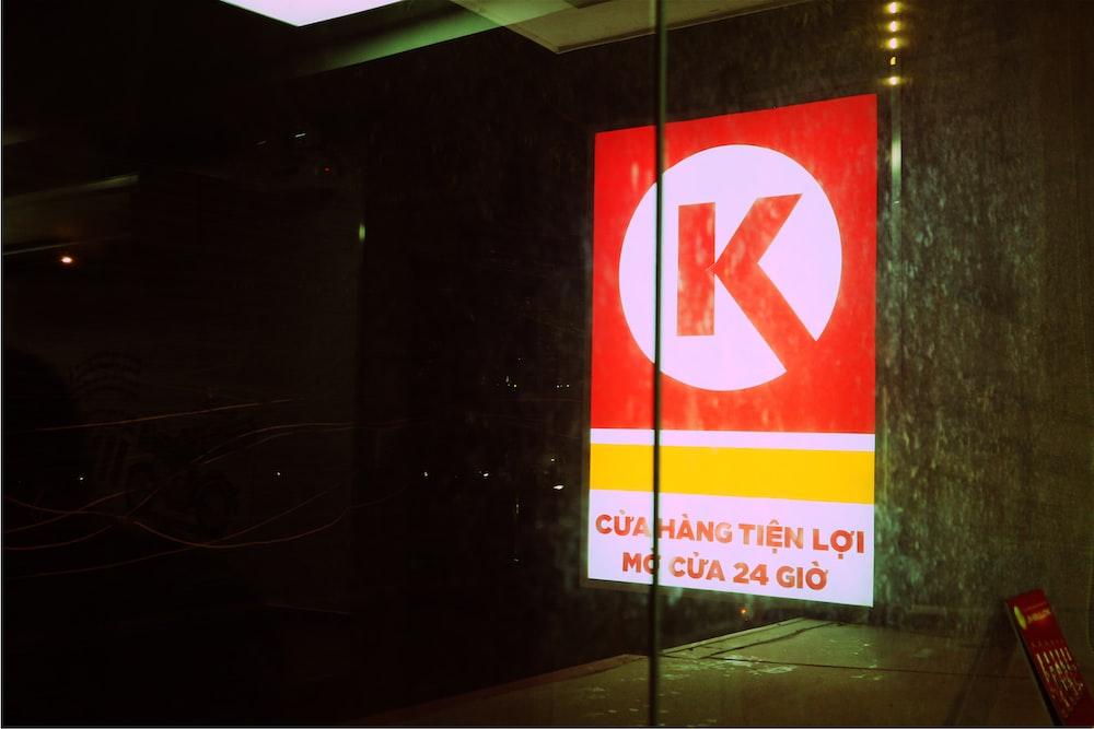 red K signage