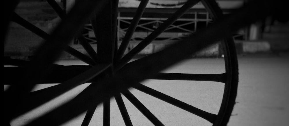 black wooden wheel