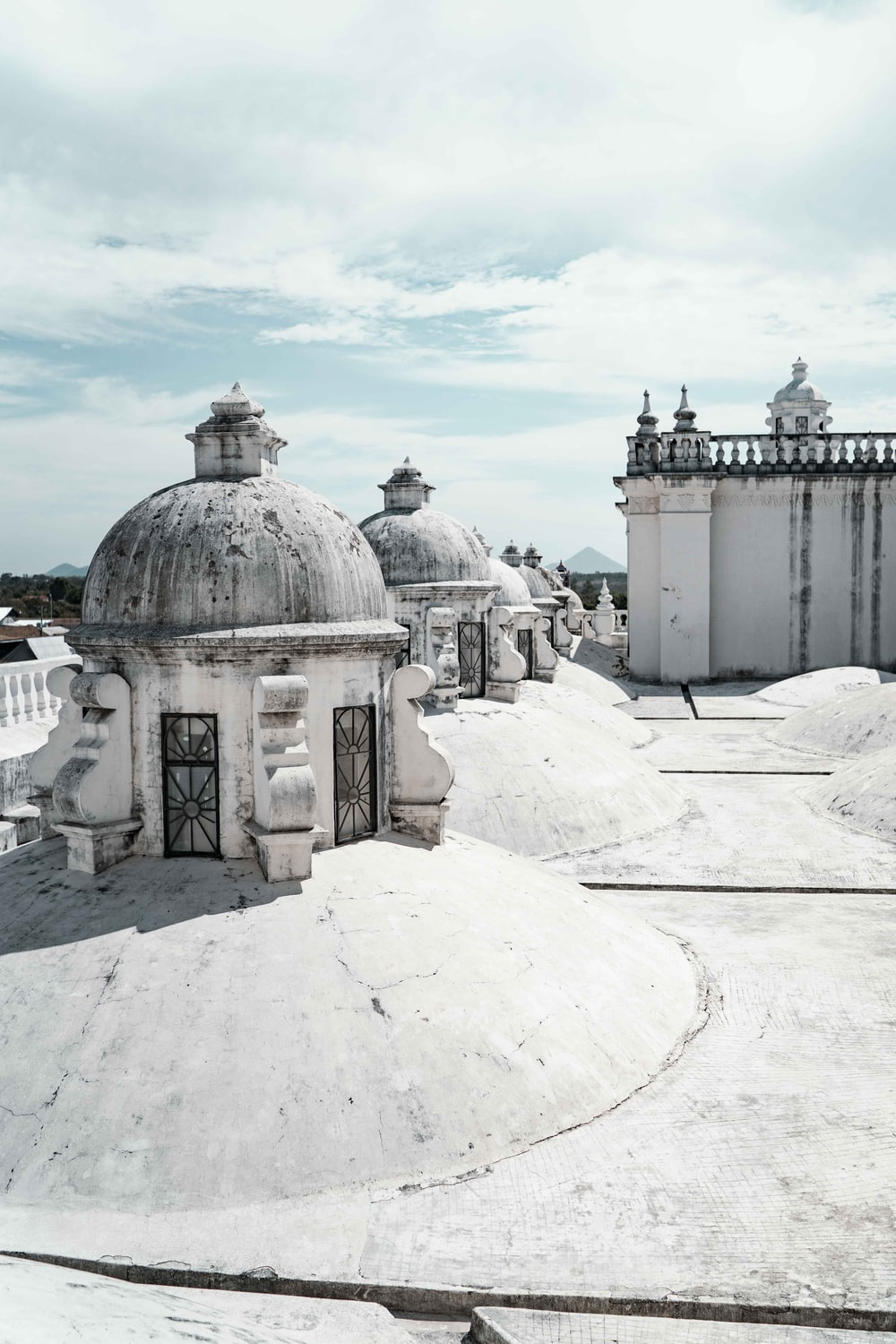 white and grey domed building