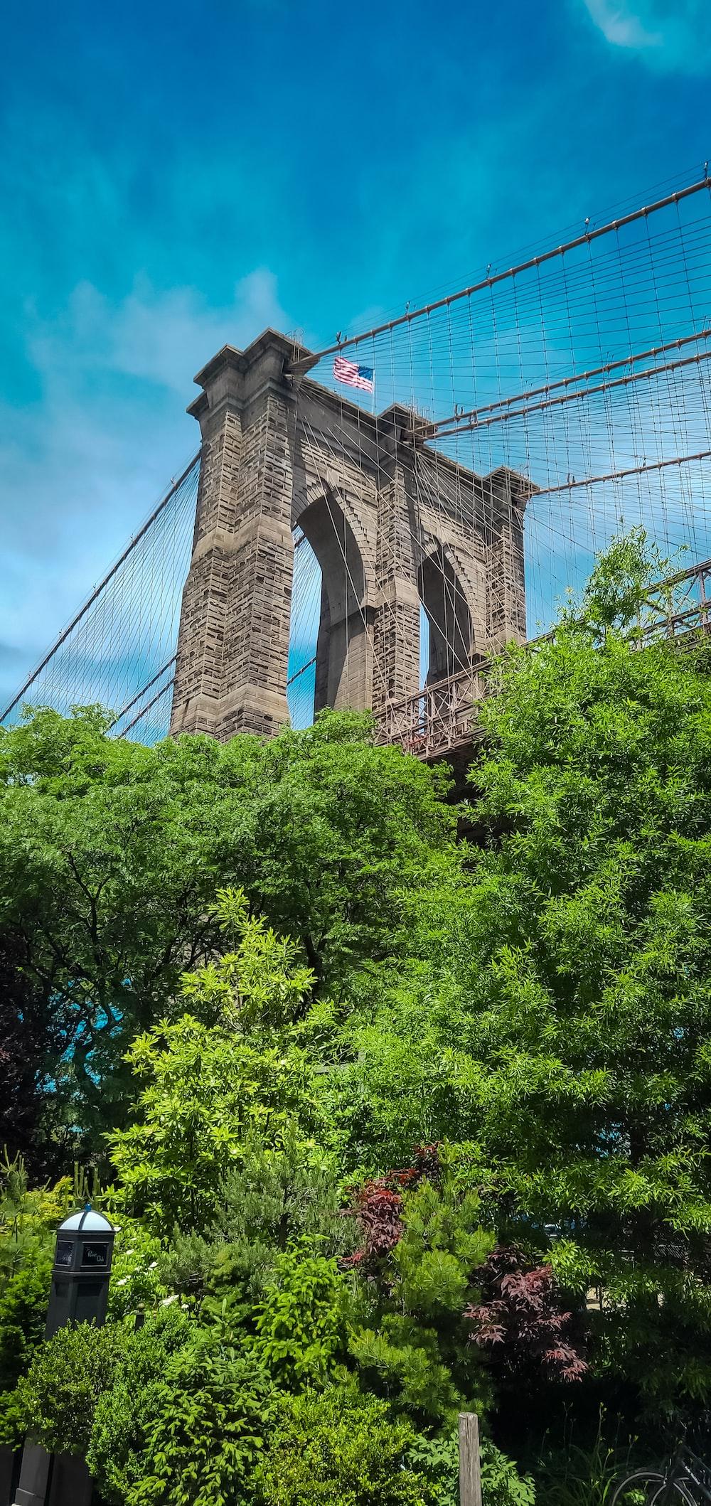 brown Brooklyn bridge