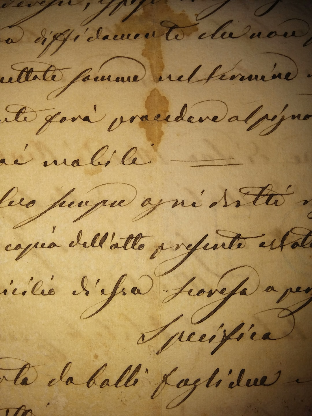 A pic of an ancient notarial document coming from the south of Italy
