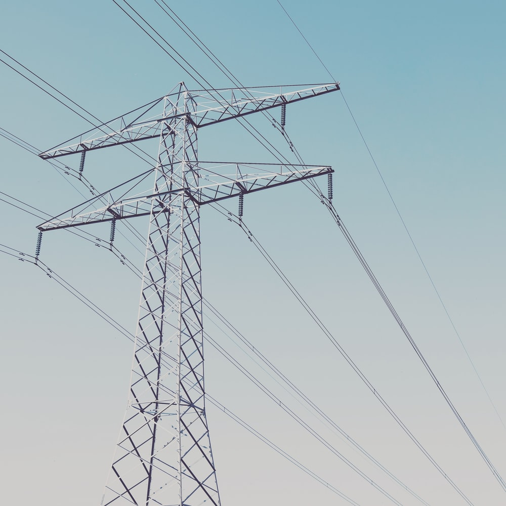 gray metal Transmission tower